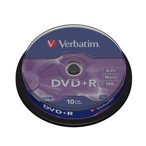 Verbatim DVD+R 16x 4,7GB spindle (10)