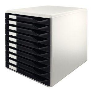 Leitz skuffekabinet, med 10 skuffer, til A4, sort