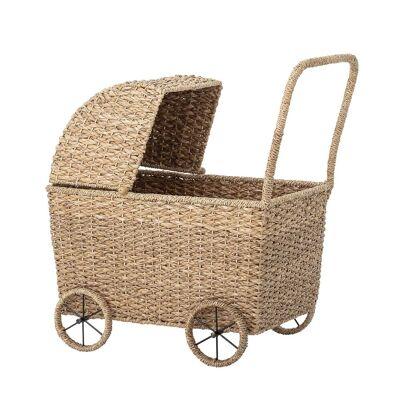 BLOOMINGVILLE MINI legetøjs dukkevogn - natur rattan - Babymøbler - Bloomingville Mini
