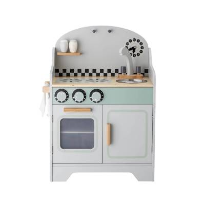 BLOOMINGVILLE MINI legetøjs køkken m. 2 låger - grå MDF - Babymøbler - Bloomingville Mini