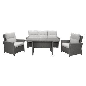 VENTURE DESIGN Brentwood have sofasæt - grå rattan og plastik