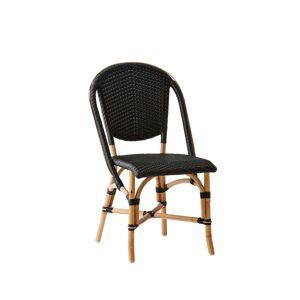 SIKA DESIGN Sofie spisebordsstol - sort/natur træ