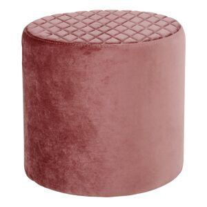 HOUSE NORDIC Ejby puf - rosa velour, rund (Ø34)