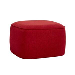 HÜBSCH kvadratisk puf - rød polyester