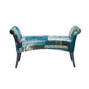 KARE DESIGN Motley Bænk - blå mønster bomuld