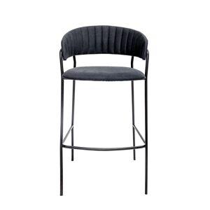 BLOOMINGVILLE Form barstol - sort polyester/jern, m. armlæn