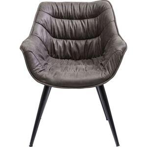 KARE DESIGN Thelma spisebordsstol - stof/sort stål, m. armlæn