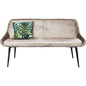 KARE DESIGN East Side sofabænk - beige stof og sort stål, m. ryglæn