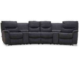 Haga Gruppen HAGA Colorado sofa - grafit grå stof, 4 pers., m. recliner funktion