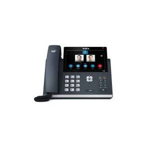 Yealink SIP-T48S, Sort, Forbundet håndsæt, Bord/Væg, In-band, Out-of band, SIP-info, LCD, 800 x 480 pixel
