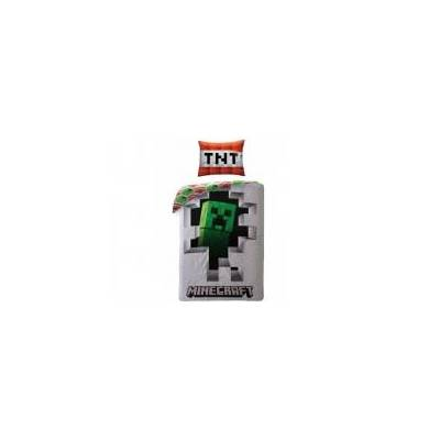 MCU Minecraft Wall Sengetøj 2i1 design - 100 Procent Bomuld - Baby Spisetid - MCU