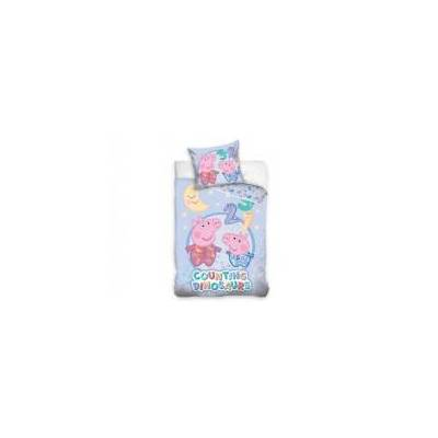 MCU Gurli Gris Junior Sengetøj 100x135cm - 100 procent bomuld - Baby Spisetid - MCU