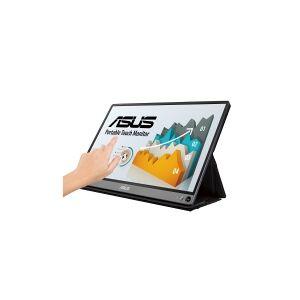 ASUS ZenScreen Touch MB16AMT - LCD-skærm - 15.6 - bærbar - touchscreen - 1920 x 1080 Full HD (1080p) - IPS - 250 cd/m² - 700:1 - 5 ms - Micro HDMI,