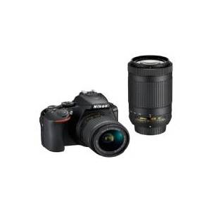 Nikon D5600 + AF-P DX 18-55mm + AF-P DX 70-300mm, 24,2 MP, 6000 x 4000 pixel, CMOS, Fuld HD, Touchskærm, Sort