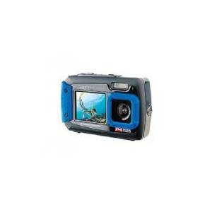 Easypix W1400 Active - Digitalkamera - kompakt - 14.0 MP / 20.0 MP (interpoleret) - undervands op til 3 m - blå