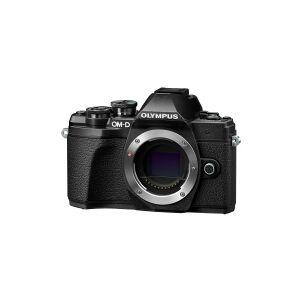 Olympus OM-D E-M10 Mark III - Digitalkamera - spejlløst - 16.1 MP - Four Thirds - 4K / 30 fps - 3x optisk zoom M.Zuiko Digital 14-42 mm EZ og M.Zuiko Digital 40-150 mm objektiver - Wi-Fi - sort