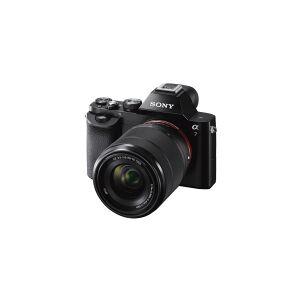 Sony a7 ILCE-7K - Digitalkamera - spejlløst - 24.3 MP - Full Frame 28-70 mm objektiv - trådløst netværk, NFC - sort