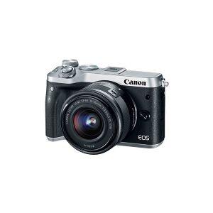 Canon EOS M6 - Digitalkamera - spejlløst - 24.2 MP - APS-C - 1080p / 60 fps - kun kamerahus - trådløst netværk, NFC, Bluetooth - sølv