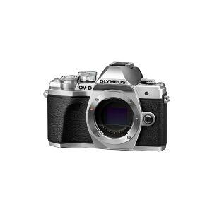 Olympus OM-D E-M10 Mark III - Digitalkamera - spejlløst - 16.1 MP - Four Thirds - 4K / 30 fps - 3x optisk zoom M.Zuiko Digital 14-42 mm EZ og M.Zuiko Digital 40-150 mm objektiver - Wi-Fi - sølv