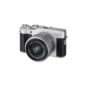 Fujifilm X X-A5 + FUJINON XC15-45mm F3.5-5.6 OIS PZ, 24,2 MP, 6000 x 4000 pixel, CMOS, 4K Ultra HD, Berøringsfølsom skærm, Sort, Sølv