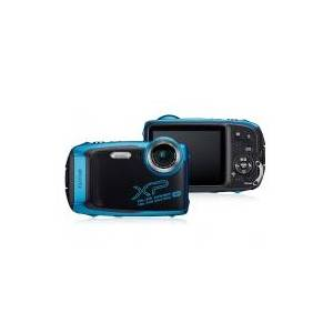 Fujifilm FinePix XP140 Digitalkamera 16.4 MPix Optisk zoom: 5 x Blå , Sort Vandtæt , Undervandskamera, 4K-video , Støvtæt, Stødsikker, Frostbestandig