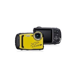 Fujifilm FinePix XP140 Digitalkamera 16.4 MPix Optisk zoom: 5 x Gul, Sort Vandtæt , Undervandskamera, 4K-video , Støvtæt, Stødsikker, Frostbestandig,