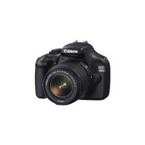 Canon EOS 1100D - Digitalkamera - SLR - 12.0 MP - APS-C - 720p - 3x optisk zoom EF-S 18-5 5mm IS og EF 50 mm II objektiver - sort