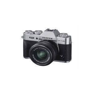 Fujifilm X X-T30 + XC 15-45mm, 26,1 MP, 6240 x 4160 pixel, CMOS, 4K Ultra HD, Touchskærm, Sølv