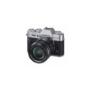 Fujifilm X-T30 XF18-55 mm Systemkamera 26.1 MPix Sølv Touch-screen, Elektronisk søger, Udklappeligt display, WiFi, Blitzsko, Bluetooth