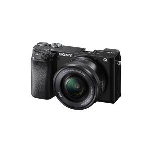 Sony a6100 ILCE-6100Y - Digitalkamera - spejlløst - 24.2 MP - APS-C - 4K / 30 fps - 3x optisk zoom 16-50 mm og 55-210 mm objektiver - Wi-Fi, NFC, Blu