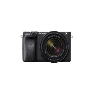 Sony a 6400 + SEL18135, 24,2 MP, 6000 x 4000 pixel, CMOS, 4K Ultra HD, Berøringsskærm, Sort