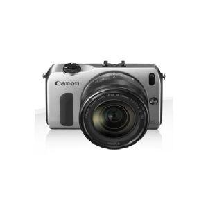 Canon EOS M + EF-M 18-55mm + 90EX, 18 MP, 5184 x 3456 pixel, CMOS, Fuld HD, Berøringsfølsom skærm, Sølv
