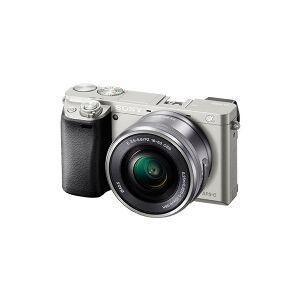Sony a6000 ILCE-6000L - Digitalkamera - spejlløst - 24.3 MP - APS-C - 3x optisk zoom 16-50 mm objektiv - Wi-Fi, NFC - sølv