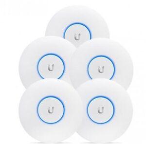Ubiquiti Networks UniFi AP AC LR, 5-Pack, 2.4/5GHz Dual-Band, 802.11ac, 802.3af