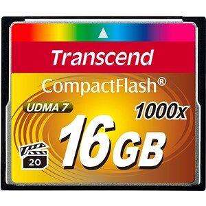 Transcend CompactFlash Card 1000x 16GB hukommelseskort
