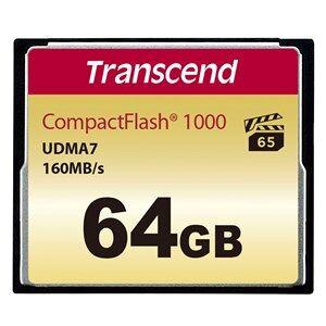 Transcend CompactFlash Card 1000x 64GB hukommelseskort Klasse 6