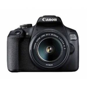 Canon EOS 2000D BK 18-55 IS II EU26 SLR kamerasæt 24,1 MP CMOS 6000 x 4000 pixel Sort
