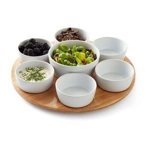 Marie Sohl Design Snacksæt 8 dele grå/hvid sten