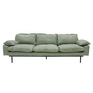 HKliving Retro Sofa Læder 4-pers Mint Grøn