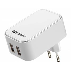 Sandberg AC oplader Dual USB 2.4+1A EU