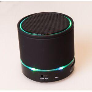 Bluetooth Højtaler med LED Lys Sort