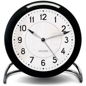 Arne Jacobsen-AJ Station Bord-ur Med Alarm, Sort