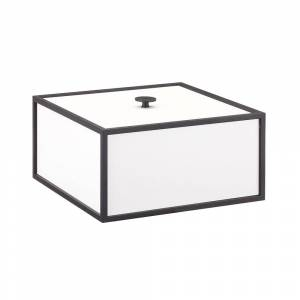 by Lassen-Frame 20 Box With Lid, White
