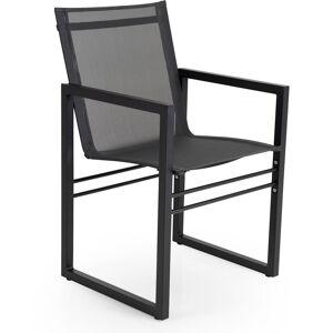Brafab-Vevi Stol, Sort/Aluminium