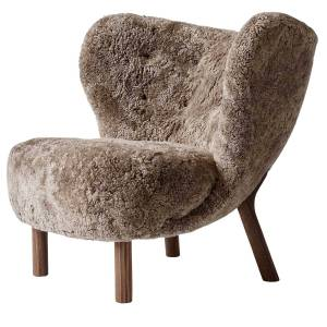 &Tradition-Little Petra VB1 Armchair, Sheep Sahara / Walnut
