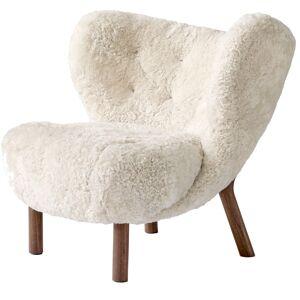 &Tradition-Little Petra VB1 Armchair, Sheep Moonlight / Walnut