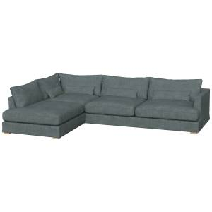 Sits-Berlin Set 3-seater Sofa Left Removable Cover, Caleido Grey