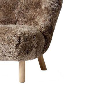 &Tradition-Lilla Petra Lounge Chair Vb1, White Oiled Oak / Sheepskin Sahara