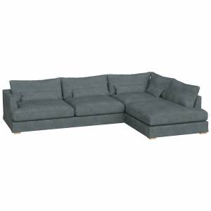 Sits-Berlin Set 3-seater Sofa Right Removable Cover, Caleido Grey