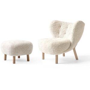 &Tradition-Little Petra Vb1, Lounge Chair Set, White oiled oak / Sheepskin Moonlight